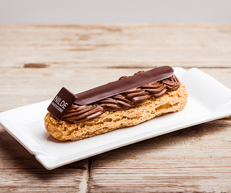 Equatorial dark chocolate eclair